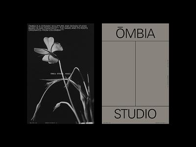 ŌMBIA design typography logo design pottery ceramics brand logo