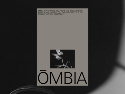 ŌMBIA ceramics ceramic studio pottery website motion grid ui portfolio design typography poster