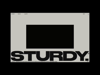 STURDY.CO Now live. website hover animation hover effect hover state hover motion portfolio sturdy drake kendrick lamar kendrick music production design typography