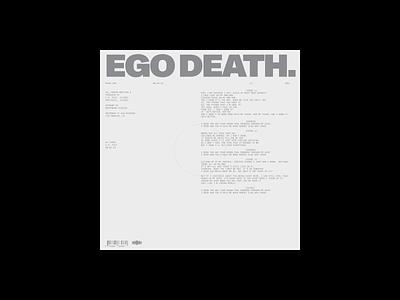 EGO DEATH, COVER ui portfolio design typography music album cover album art album