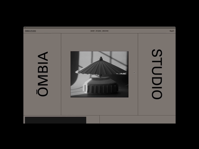 ŌMBIA STUDIO, Homepage ceramics gif hero website motion grid portfolio design typography