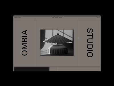 ŌMBIA STUDIO, PRODUCT layout home hero website motion grid portfolio design typography shop ecommerce product