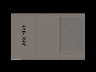 ŌMBIA STUDIO, Archive home gif hero ui website motion grid portfolio design typography