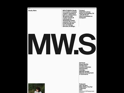 MW.S home gif hero ui website motion grid portfolio design typography