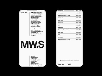 MW.S website motion grid ui portfolio design typography