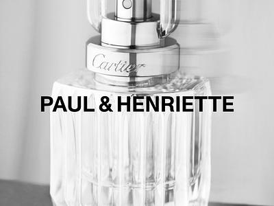 Paul & Henriette Branding gif hero website motion grid ui portfolio logo design brand logo design typography