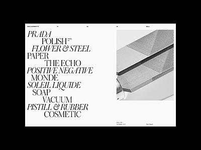 Paul & Henriette layers magazine serif pais photography photographer website motion grid portfolio design typography