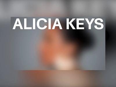 ALICA KEYS branding logo website motion portfolio design alicia keys music