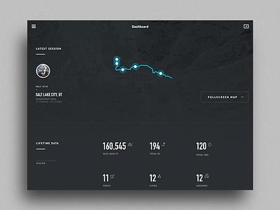 iPad Dashboard typography ui data grid map stats chart gif graph metrics statistics dashboard
