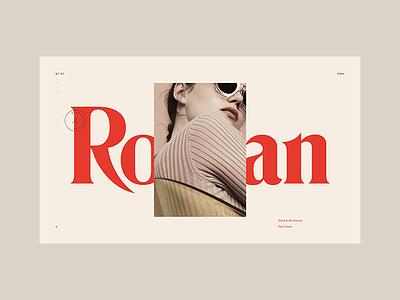 Stylist Concept website ui stylist portfolio typography design folio