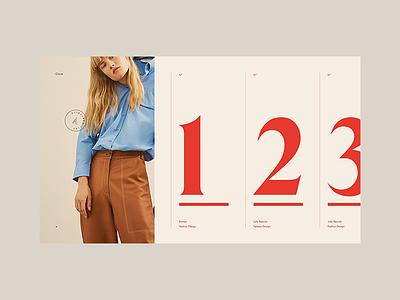 Stylist Concept — Menu menu website ui typography stylist portfolio folio design