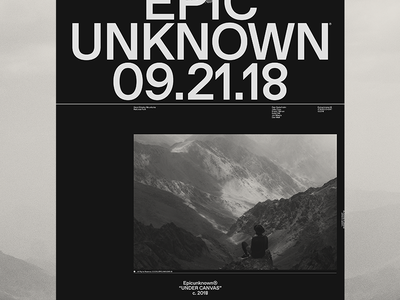 Epic Unknown epicurrence home hero design typography ui