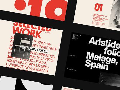 Ari — Extras onepage layout website portfolio motion design typography ui