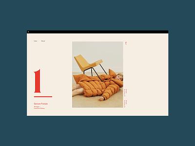 2019© Julie Benoist, Case typography grid design landing mobile cards folio graphic design portfolio stylist