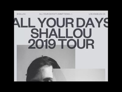 SHALLOU, ALL YOUR DAYS (FT. EMMIT FENN) ©2019