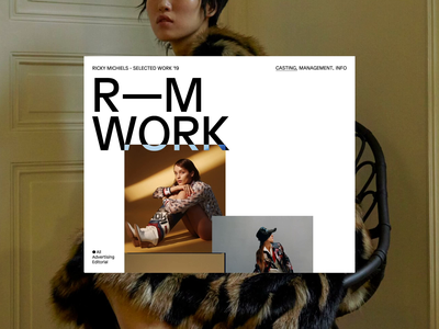 Ricky Michiels, ©2019 portfolio scrolling video typography photography fashion