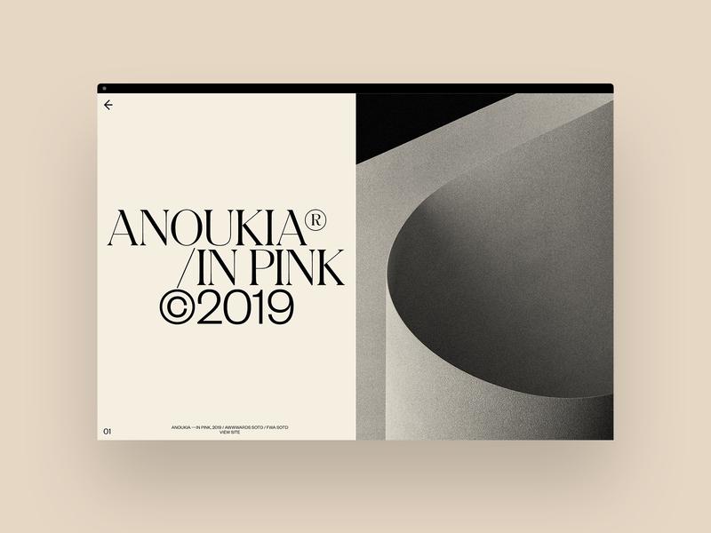 Spread website hero ux motion portfolio design typography