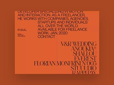 Aristide Benoist ©2019 layout website video grid gif motion portfolio design typography