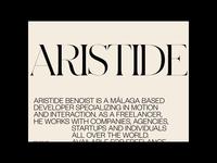 Aristide Benoist ©2019