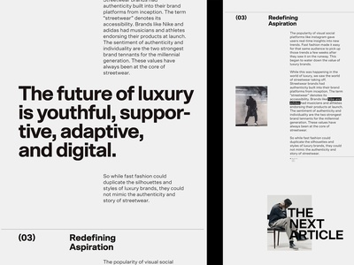 Applied Article, Concept editorial design editorial design typography article
