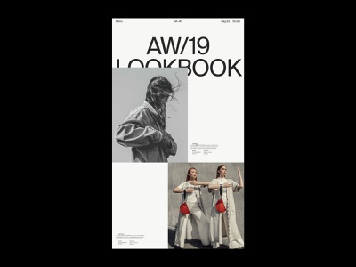 MW, Loobook editorial lookbook design typography