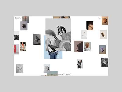 David William Baum, Project hero website motion grid ui typography portfolio photography project
