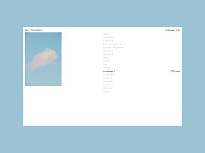 DAVID WILLIAM BAUM, Catalogue grid portfolio index design typography