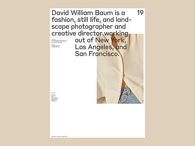 David William Baum, Info