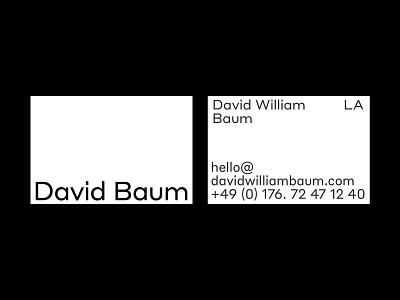 David William Baum, Cards branding portfolio card design typography