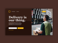 UPS Landing page Redesign concept