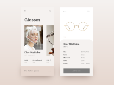 Glasses shop app