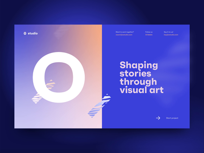 Creative agency preview page banner design transitions adobe xd colorful vibrant creative agency bold minimal transition ui interface landing website gif animated gif animation blur typography creative homepage