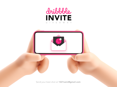 Dribbble Invite branding dribbble invite dribbble giveaway blender 3d invite clean illustration design ui
