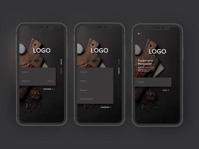 Food App Login/Sign up Interaction