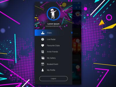 Club App Navigation Drawer