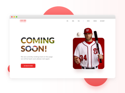Sports Website Coming Soon page