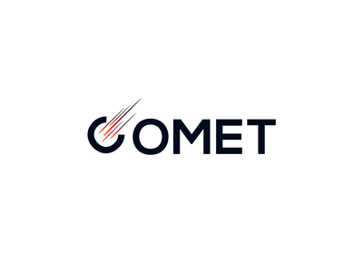 Comet logo typography vector clean design illustration 2d comet logodesign logo
