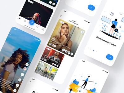 RYSE   Musicians app clean application meet create musicians app music 2d website illustration design ui