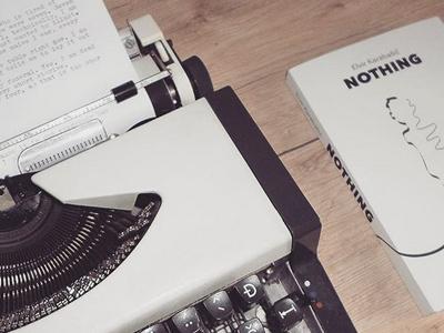 Nothing - by Elvir Karabašić shirt design tattoo kindle amazon ebook illustration novel writing reading book author