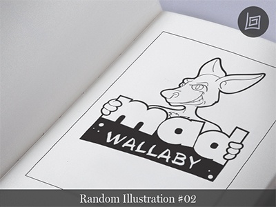 Wallaby Illustration #02 alien logo icon drawing cartoon comic fun funny brand t-shirt design illustration