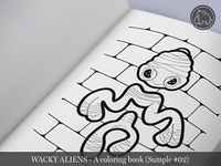 Wacky Aliens - A coloring book / Preview 02