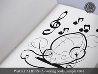 Wacky Aliens - A coloring book / Preview 04