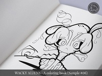 Wacky Aliens - A coloring book / Preview 06
