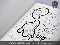 Wacky Aliens - A coloring book / Preview 07