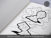 Wacky Aliens - A coloring book / Preview 08