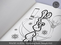 Wacky Aliens - A coloring book / Preview 13