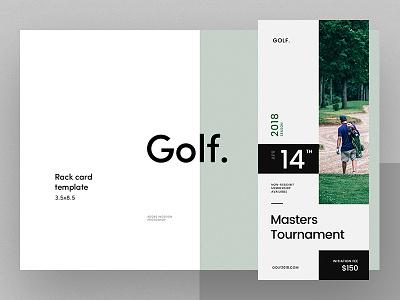 Golf. Rack Card Template rack card print promo minimal golf flyer flat brand