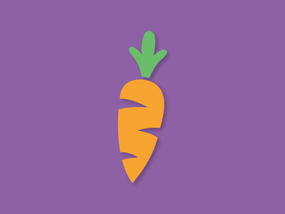 Carrot carrot icon spring flat