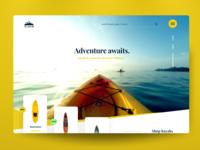 "Web Design Concept: ""Yellowline"""