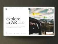 "Web Design Concept: ""Explore in AR"""